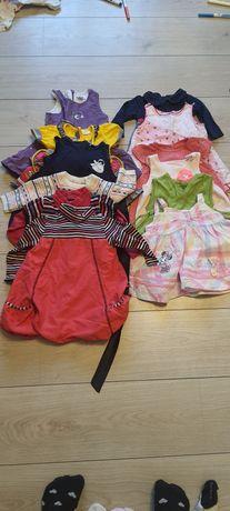 Пакет платьев на девочку от 56 до 76