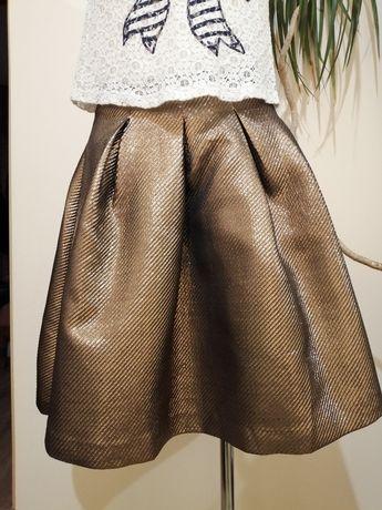 Reserved złota spódnica
