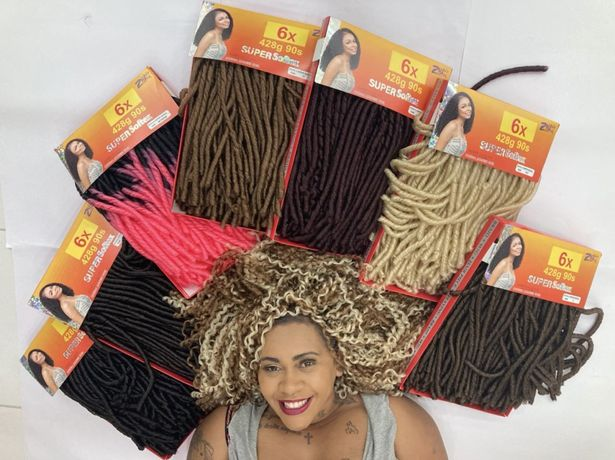 Extensoes cabelo organico croche