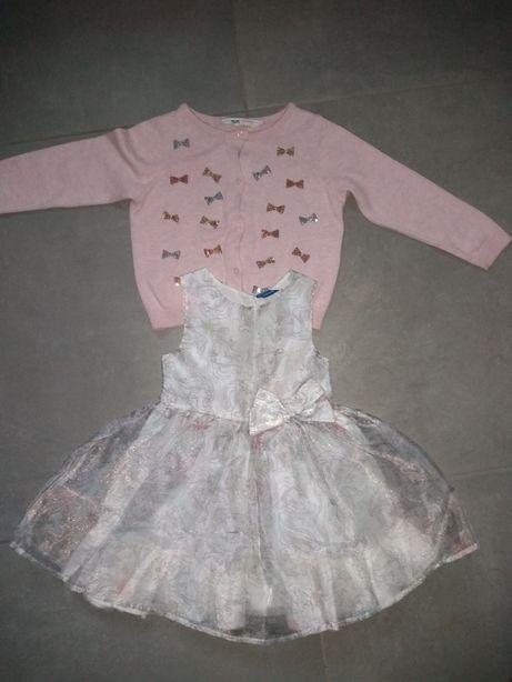 Zestaw Sukienka na Święta Elza Kraina Lodu 2/3 l 98 cm