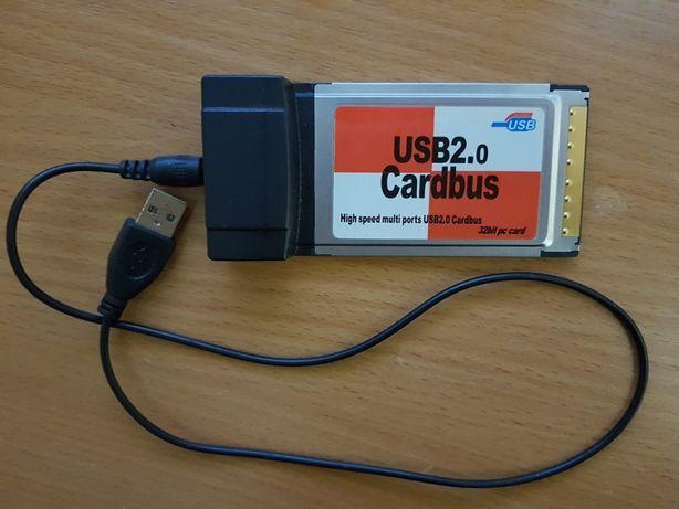 4-х портовый адаптер USB 2.0 Cardbus 32bit pc card