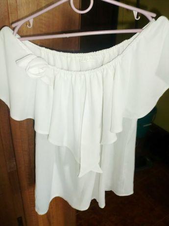 Блузка жіноча літня з рюшами,топ,блузка женская летняя с рюшами