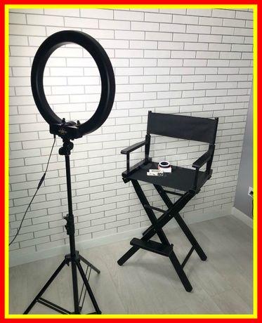 Pro Кольцевая лампа 45 см LED со штативом для визажиста блогера