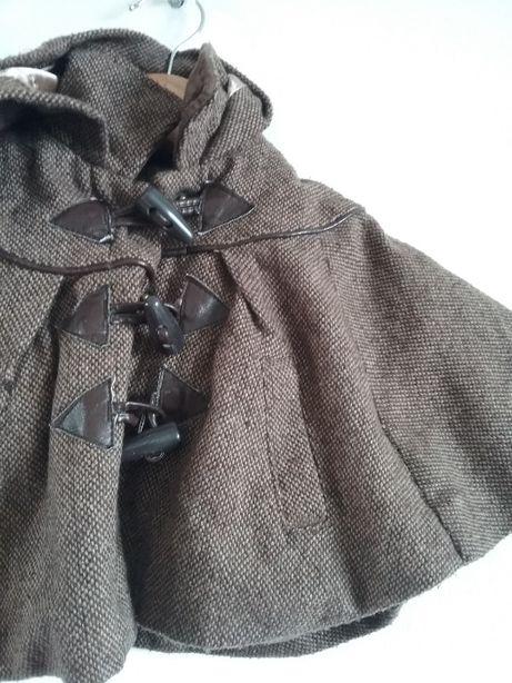 ponczo narzutka plaszcz retro vintage jesien
