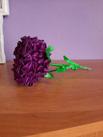 Fioletowy kwiat wykonany ręcznie/DIY