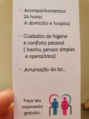 Auxiliar de enfermagem e cuidadora.