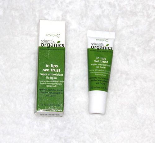 EmerginC Scientific Organics LIPS pomadka ochronna szminka bio chanel