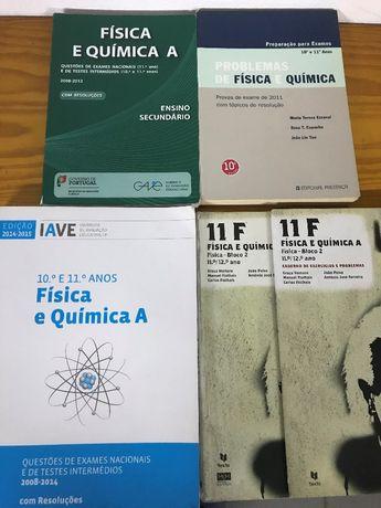 Livros e livros exame Fisica & Quimica