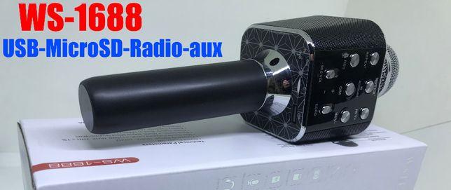 Колонка с функцией Караоке Микрофона Wster WS-1688 (USB, microSD, AUX,