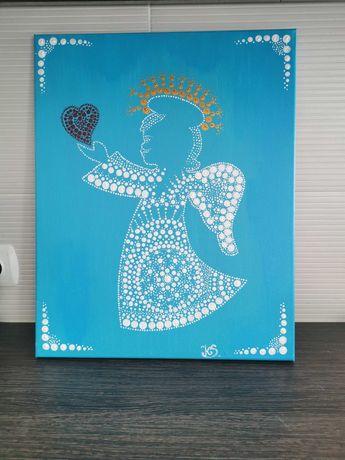 Mandela Aniołek ręcznie malowany