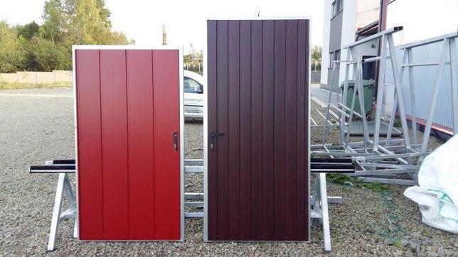 DRZWI STALOWE na wymiar! metalowe garażowe SOLIDNA brama ocieplana !!