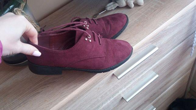 Туфли, ботинки замшевые, бордовый, марсала цвет
