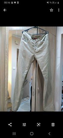 Spodnie materiałowe beż męskie  Guess
