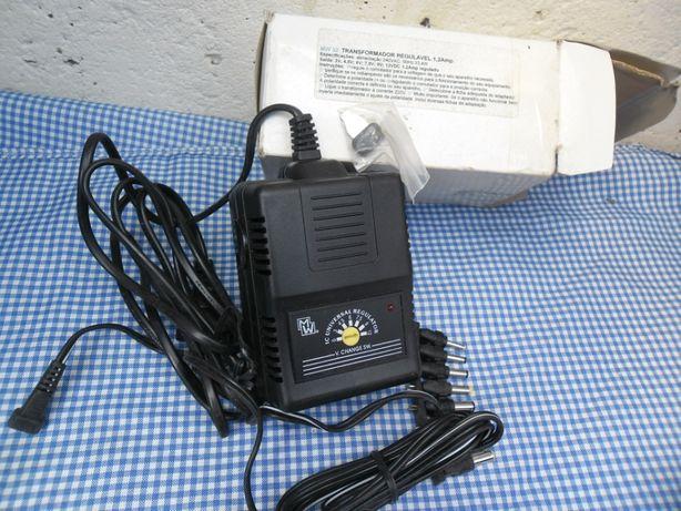 1 transformador regulável 3a12 volt 1,2amp
