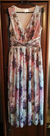 Mohito celebration długa sukienka plisowana w kwiaty