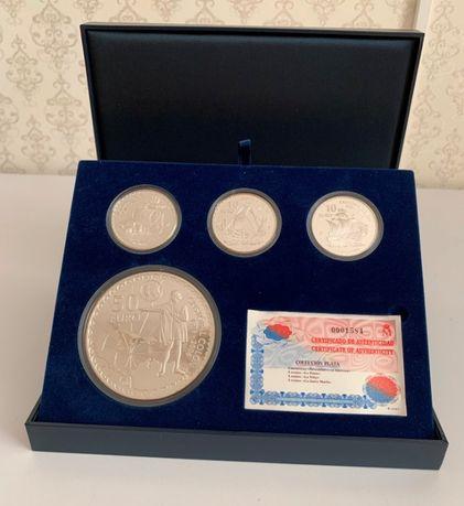 Набор монет, Испания, Христофор Колумб, Серебро 2006
