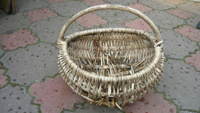 Kosz koszyk na grzyby ziemniaki wyplataty pleciony a'la wiklinowy