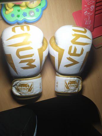 Боксерские перчатки Venum (кожа) 12oz