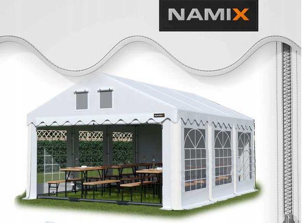 Namiot GRAND 6x8 ogrodowy imprezowy garaż wzmocniony PVC 560g/m2
