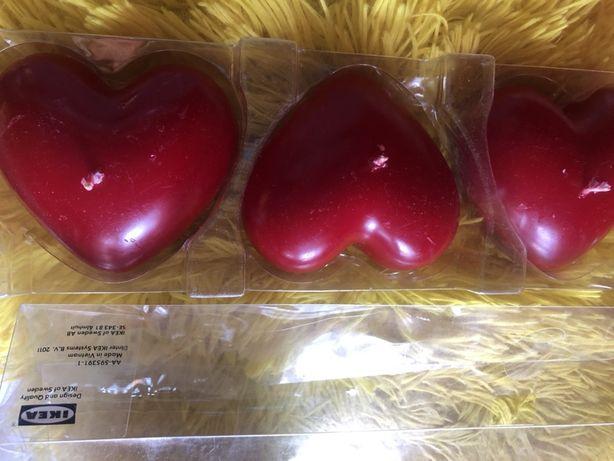 Świeczki serca Ikea