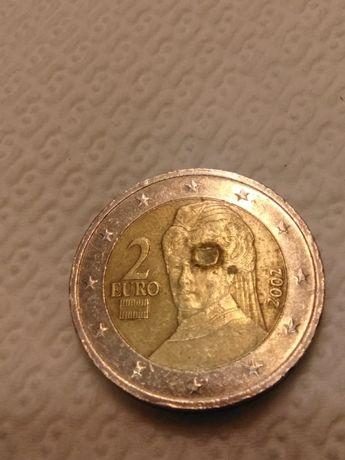 Moeda 2€ da Áustria com defeito raro