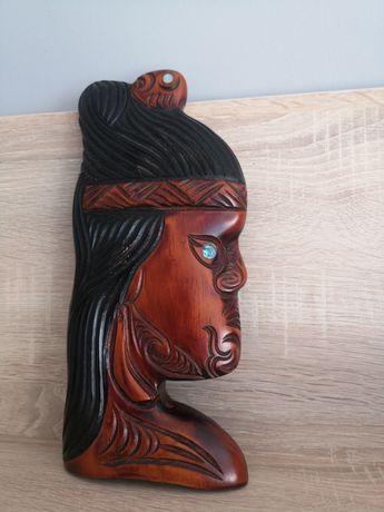 Płaskorzeźba indiańska, maska indiańska