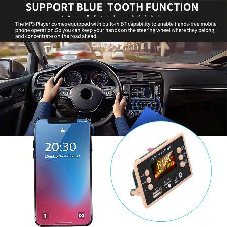 Авто MP3 плеер Bluetooth5.0 FM USB microSD модуль12V MP3 FLAC WMA WAV