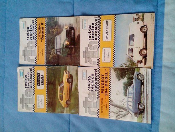 Revistas antigas de carros