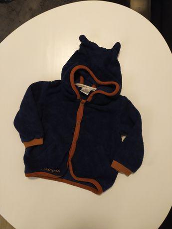 Bluza sweterek dzianina minetti 74 kaptur uszka