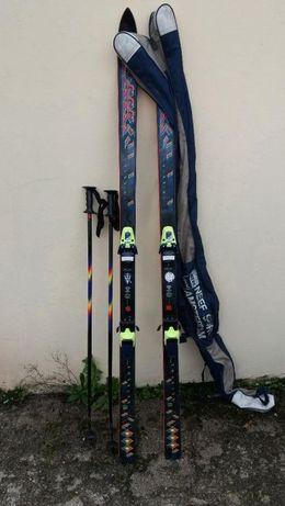 Ski de neve Triaxial + Batons + bolsa