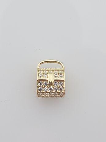 Złoty element charms na bransoletkę Pandora 14k.Nowy (352)