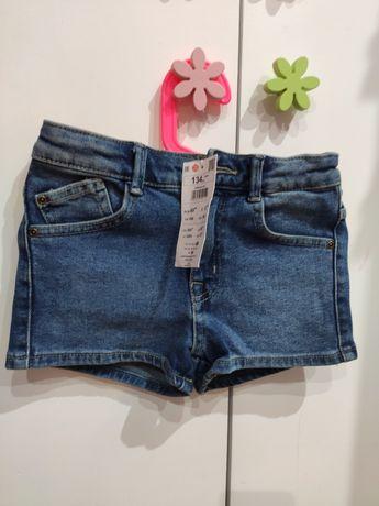 Nowe  krótkie spodenki dżinsowe szorty Reserved 134