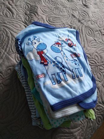 worek ubranek dla chłopca roz. 56, 62 i 68