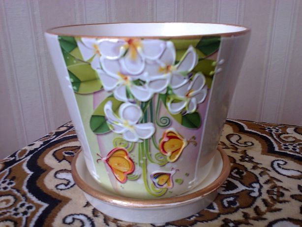 Вазон, горшок керамический для цветов