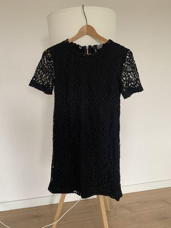 Czarna, kornkowa sukienka H&M, jak now. Roz. 34/XS