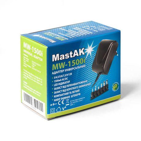 Универсальный регулируемый блок питания MastAK MW-1500i, 3v-12v 1500mA