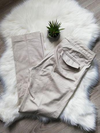 Eleganckie beżowe spodnie H&M r 42 XL
