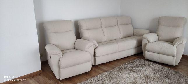 Wypoczynek sofa plus dwa fotele