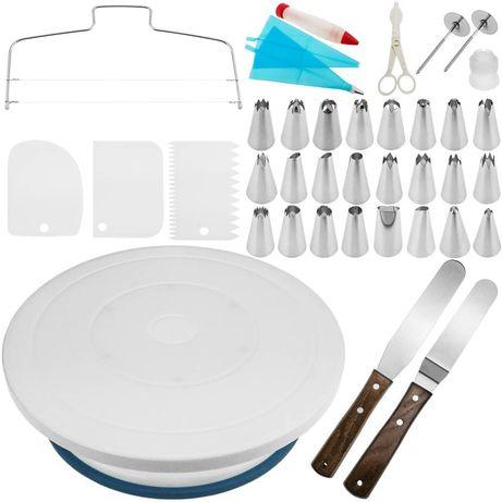 Base rotativa para bolos de 28 cm profissional com p/ giratória