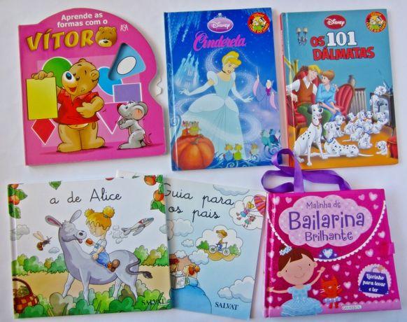 Conjunto de 5 livros de criança