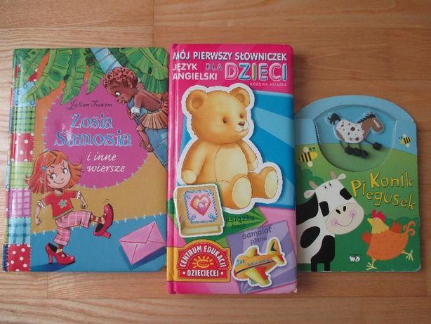 Książki dla dzieci np Julian Tuwin wiersze, Słowniczek angielskiego