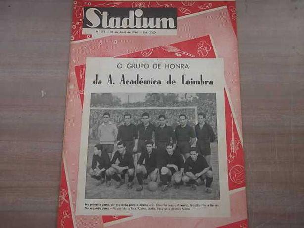Revista STADIUM nº 175 Ano 1946  Equipa da A. ACADÉMICA de COIMBRA
