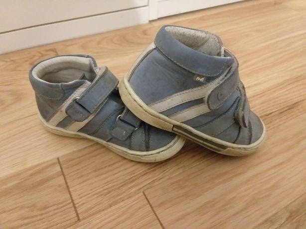 Emel buty trzewiki skórzane dziecięce r.23