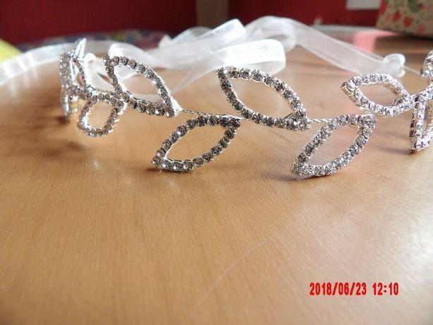Ozdoba do włosów na ślub wesele z cyrkoniami Nowa