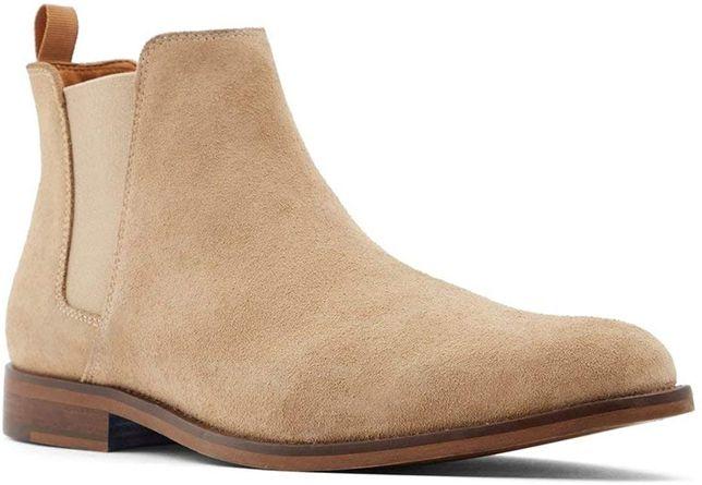 Премиум мужские ботинки челси ALDO Vianello-r бежевые замша оригинал