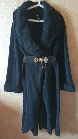 Роскошное пальто, кардиган RoccoBarocco Италия.