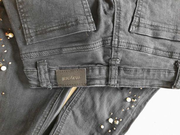 spodnie Mayoral j nowe czarne similki perly miekkie 128 134