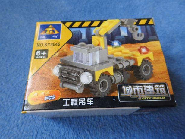 klocki dźwig - pojazd techniczny 44 elementy Nowe