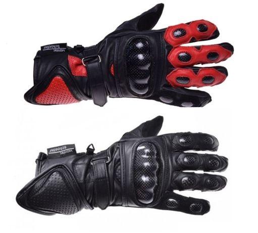 Rękawice motocyklowe Skóra + Kevlar Długie Wzmocnione S M L XL