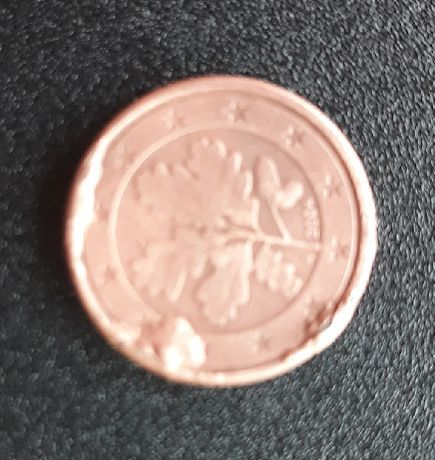 Moneta 1 eurocent - destrukt menniczy